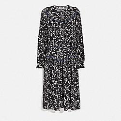 YOKE DRESS - BLACK/GREY - COACH 2071