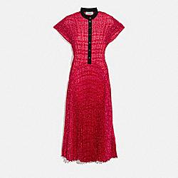 COACH 2104 - SLEEVELESS PLEATED DRESS RED/BLACK