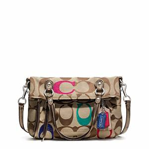 09e70173f8 visitor Asks About Coach Poppy Embroidered Signature C Foldover Crossbody  silver multicolor - Needle