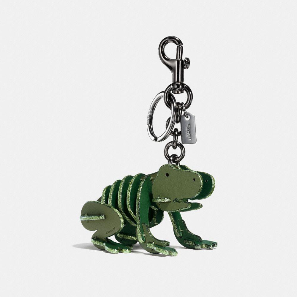 Kleiner Froggy Taschenanhänger Im Puzzle-Design in Green