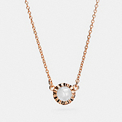 COACH 22150 - DEMI-FINE SUNBURST STONE NECKLACE ROSE GOLD/GREY