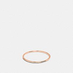 COACH 22151 - DEMI-FINE SUNBURST SIMPLE BAND RING ROSEGOLD