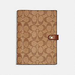 NOTEBOOK WITH CRAYON HEARTS PRINT - 222 - KHAKI