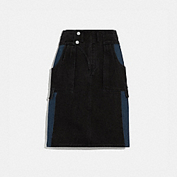 COACH 2248 Denim Skirt BLACK
