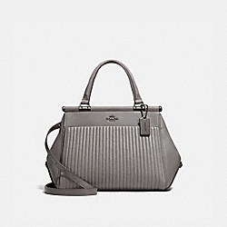 COACH 22728 - GRACE BAG WITH QUILTING HEATHER GREY/DARK GUNMETAL