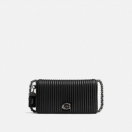 COACH 22729 DINKY WITH QUILTING BP/BLACK