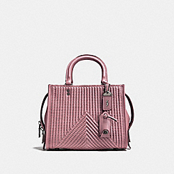 COACH 22797 Rogue 25 With Quilting And Rivets BP/DUSTY ROSE