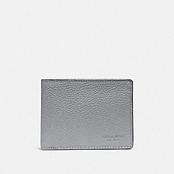 COACH 22814 - SLIM BILLFOLD WALLET HEATHER GREY