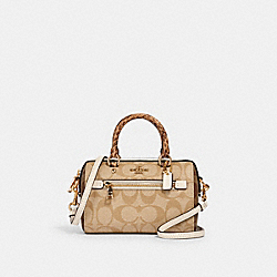 COACH 2300 - MICRO ROWAN CROSSBODY IN SIGNATURE CANVAS IM/KHAKI/ LIGHT KHAKI/ CHALK
