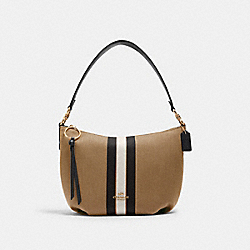COACH 2301 Small Skylar Hobo With Varsity Stripe IM/TAUPE/BLACK
