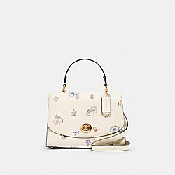 COACH 2303 - TILLY TOP HANDLE WITH DANDELION FLORAL PRINT IM/CHALK/ BLUE MULTI
