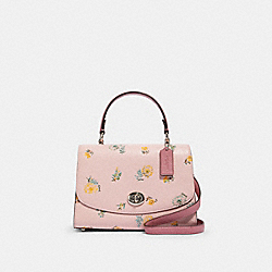 COACH 2303 - TILLY TOP HANDLE WITH DANDELION FLORAL PRINT SV/BLOSSOM GREEN MULTI