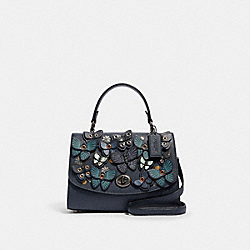 COACH 2307 - TILLY TOP HANDLE WITH BUTTERFLY APPLIQUE QB/MIDNIGHT