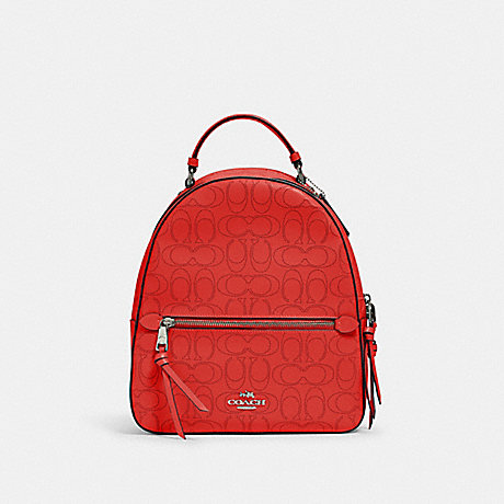 COACH 2322 JORDYN BACKPACK IN SIGNATURE LEATHER QB/MIAMI RED