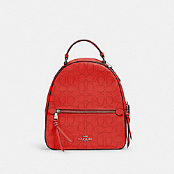 JORDYN BACKPACK IN SIGNATURE LEATHER - 2322 - QB/MIAMI RED