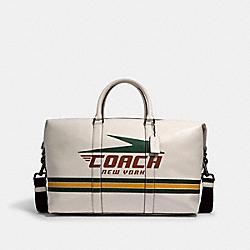COACH 2334 - TREKKER BAG WITH VINTAGE COACH MOTIF QB/CHALK MULTI