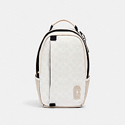 COACH 2337 - EDGE PACK IN SIGNATURE CANVAS QB/CHALK STEAM