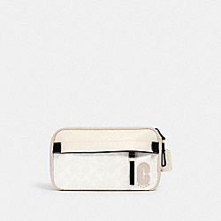 COACH 2339 - EDGE BELT BAG IN SIGNATURE CANVAS QB/CHALK STEAM