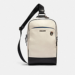 COACH 233 Graham Pack In Colorblock QB/CHALK/BLACK