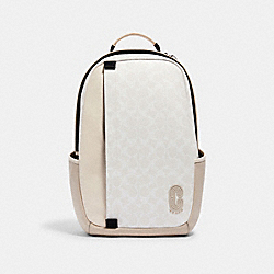 COACH 2340 - EDGE BACKPACK IN SIGNATURE CANVAS QB/CHALK STEAM