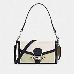 JADE SHOULDER BAG IN COLORBLOCK - 2341 - SV/CHALK PALE GREEN MULTI