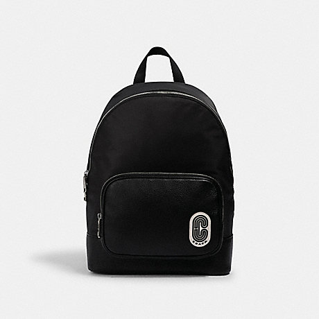 COACH 2348 COURT BACKPACK WITH COACH PATCH SV/BLACK