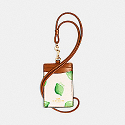 ID LANYARD WITH LIME PRINT - 2364 - IM/CHALK GREEN MULTI