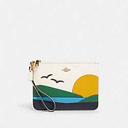 GALLERY POUCH WITH SUNSET MOTIF - 2368 - IM/CHALK MULTI