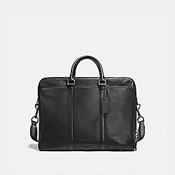 METROPOLITAN DOUBLE ZIP BUSINESS CASE - 23791 - BLACK/BLACK ANTIQUE NICKEL