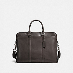 COACH 23791 - METROPOLITAN DOUBLE ZIP BUSINESS CASE CHESTNUT/BLACK ANTIQUE NICKEL