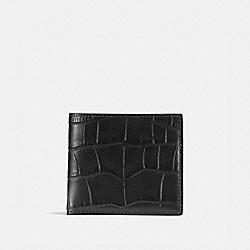 COACH 23835 Double Billfold Wallet BLACK