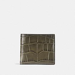 COACH 23835 Double Billfold Wallet MOSS