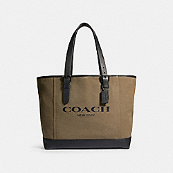 COACH 2388 - HUDSON TOTE WITH COACH PRINT QB/MOSS