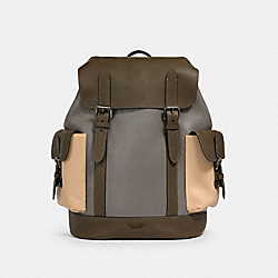 COACH 2390 - HUDSON BACKPACK IN COLORBLOCK QB/MOSS/ GREY/ SANDY BEIGE