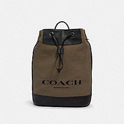 COACH 2391 - HUDSON DRAWSTRING CLOSURE BACKPACK WITH COACH PRINT QB/MOSS