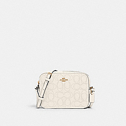 COACH 2403 Mini Camera Bag In Signature Leather IM/CHALK