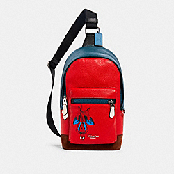 COACH 2407 Coach │ Marvel West Pack With Spider-man SV/MIAMI RED