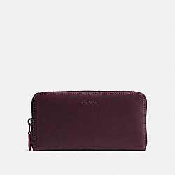 ACCORDION ZIP WALLET - OXBLOOD/DARK GUNMETAL - COACH 24377