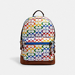 COACH 2471 - WEST BACKPACK IN RAINBOW SIGNATURE CANVAS QB/CHALK MULTI