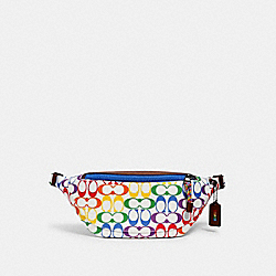 COACH 2472 - WARREN BELT BAG IN RAINBOW SIGNATURE CANVAS QB/CHALK MULTI