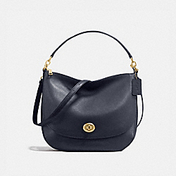 COACH 24771 - TURNLOCK HOBO NAVY/LIGHT GOLD