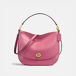 COACH 24771 Turnlock Hobo ROUGE/LIGHT GOLD