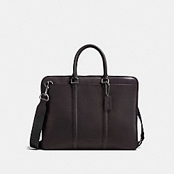 COACH 24776 Metropolitan Slim Brief QB/CHESTNUT