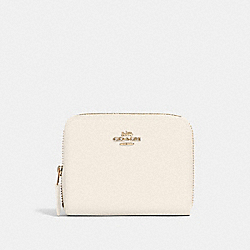 COACH 24808 Small Zip Around Wallet IM/CHALK