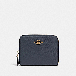 COACH 24808 - SMALL ZIP AROUND WALLET IM/MIDNIGHT