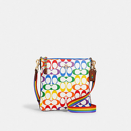 COACH 2495 JES SLIM CROSSBODY IN RAINBOW SIGNATURE CANVAS IM/CHALK-MULTI