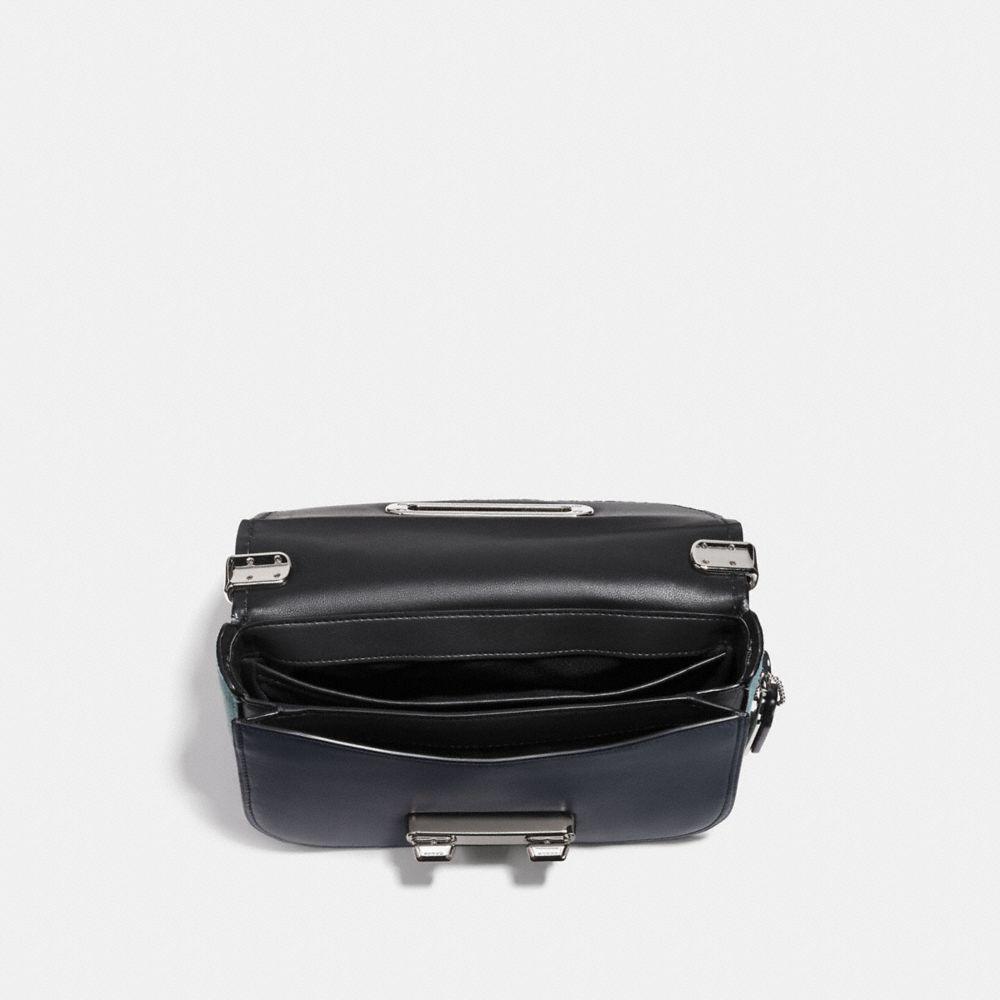 COACH SWAGGER SHOULDER BAG 20 W PATCHWORK TEA ROSE /& SNAKESKIN DETAIL 24968