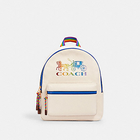 COACH 2500 MEDIUM CHARLIE BACKPACK WITH RAINBOW HORSE AND CARRIAGE IM/CHALK-MULTI