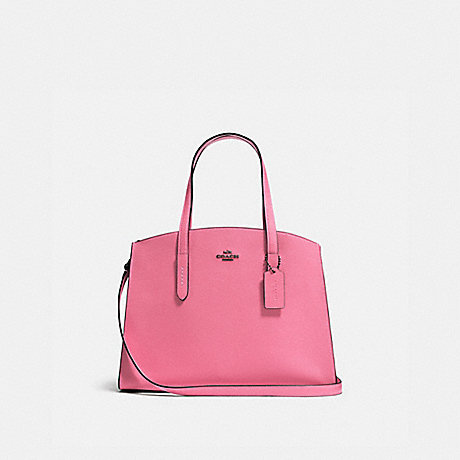 COACH 25137 CHARLIE CARRYALL DARK GUNMETAL/BRIGHT PINK