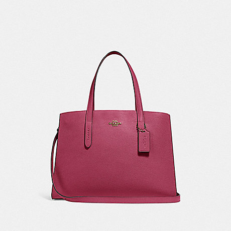COACH 25137 CHARLIE CARRYALL GOLD/DUSTY-PINK
